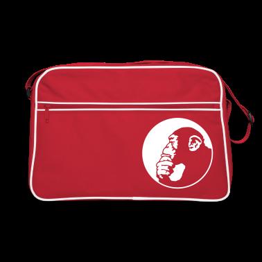 Red/white chimpanzee Bags