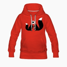 Red squirrels in love - to give each other Hoodies & Sweatshirts
