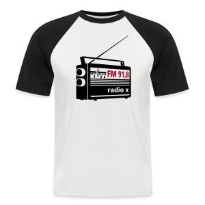 T-Shirt Schwarz Weiß - Männer Baseball-T-Shirt