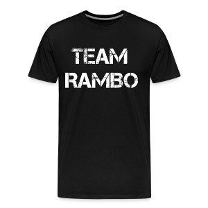 Official TEAM RAMBO TOP - Black - Men's Premium T-Shirt
