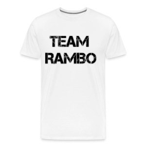 Official TEAM RAMBO TOP - White - Men's Premium T-Shirt