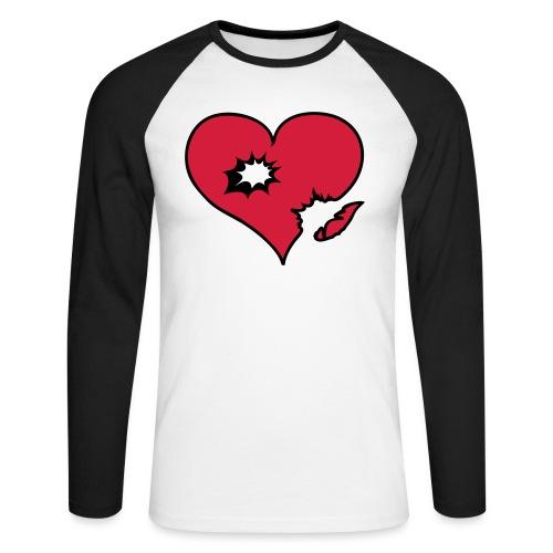 heart explosion bullit 2 - Mannen baseballshirt lange mouw