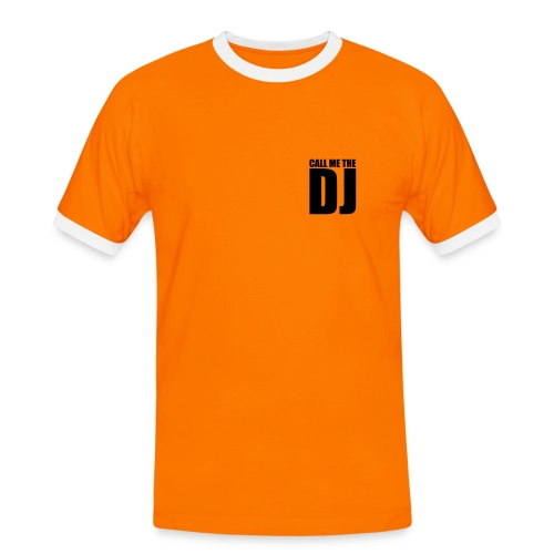 Call me DJ - Männer Kontrast-T-Shirt
