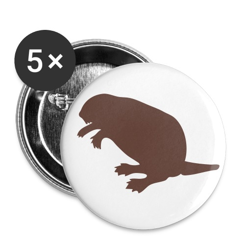 Pack 5 Badges Castor - Badge petit 25 mm