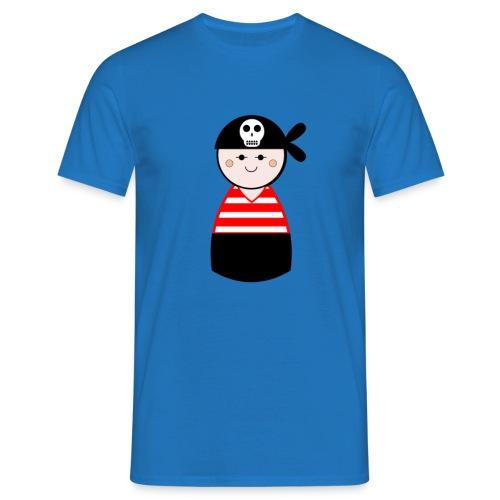 Mens Red Pirate Tshirt - Men's T-Shirt