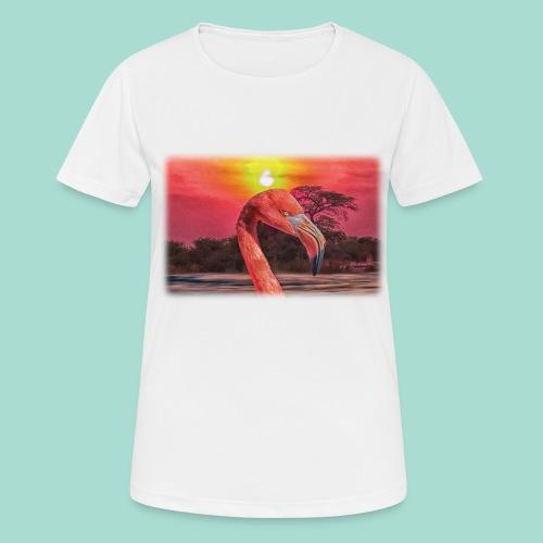 Rosa Flamingo - Frauen T-Shirt atmungsaktiv