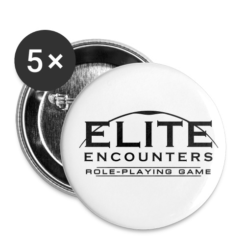 Elite Encounters Logo White Button - Buttons small 25 mm