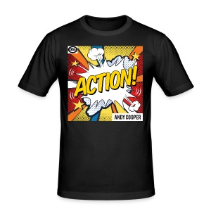 Origu T-Shirt Andy Cooper Action - black - Men's Slim Fit T-Shirt