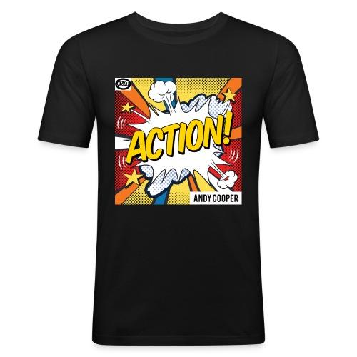 Origu T-Shirt Andy Cooper Action - black - Men's Slim Fit T-Shirt