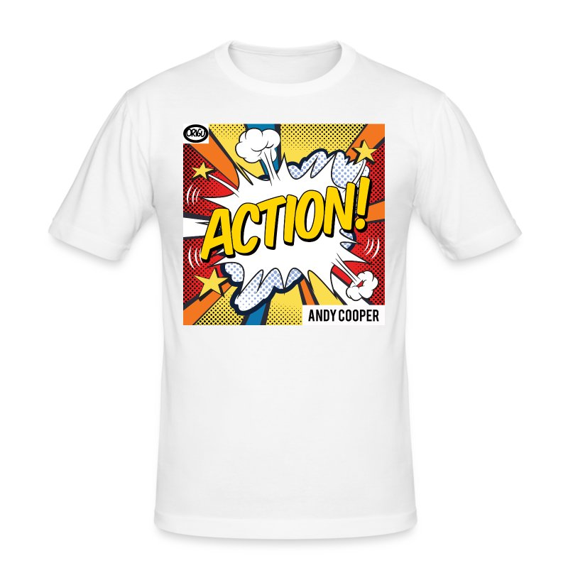 Origu T-Shirt Andy Cooper Action - white - Men's Slim Fit T-Shirt
