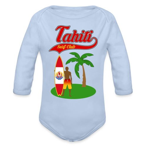 Tahiti Surf Club - Organic Longsleeve Baby Bodysuit