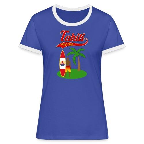 Tahiti Surf Club - Women's Ringer T-Shirt