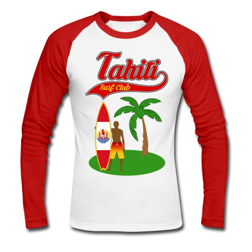Tahiti Surf Club - Men's Long Sleeve Baseball T-Shirt