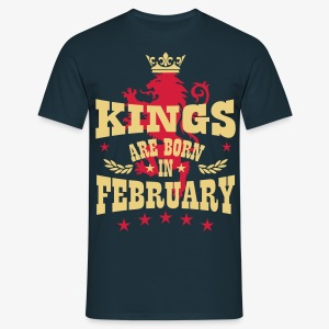 Kings are born in February King Crown Lion Hero T-Shirt - Männer T-Shirt