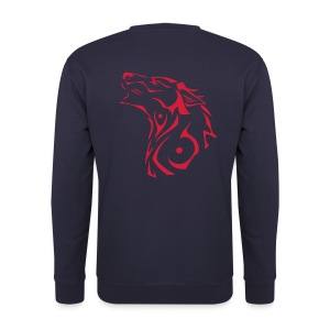 Sweat Homme avec Loup tribal - Sweat-shirt Homme