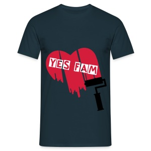 Yes Fam Loveheart T - Men's T-Shirt
