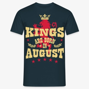 Kings are born in August King Crown Lion Löwe T-Shirt - Männer T-Shirt