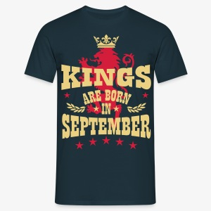 Kings are born in September King Crown Lion Löwe T-Shirt - Männer T-Shirt