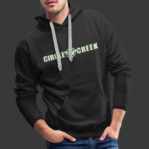 Circle Creek (WHITE / Glow In The Dark) - Männer Premium Hoodie