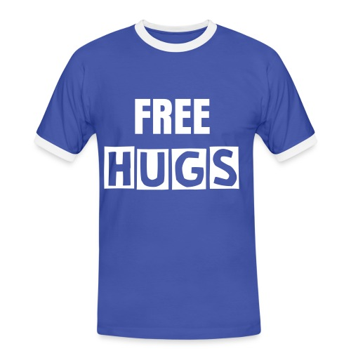 HUG ME TEE - Men's Ringer Shirt