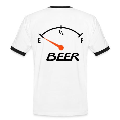Beer>tom tank  - Kontrast-T-skjorte for menn