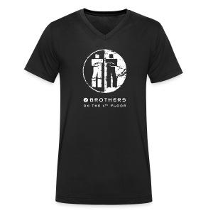 Black men V-neck - Men's Organic V-Neck T-Shirt by Stanley & Stella
