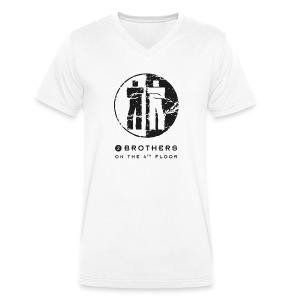 White men V-neck - Men's V-Neck T-Shirt