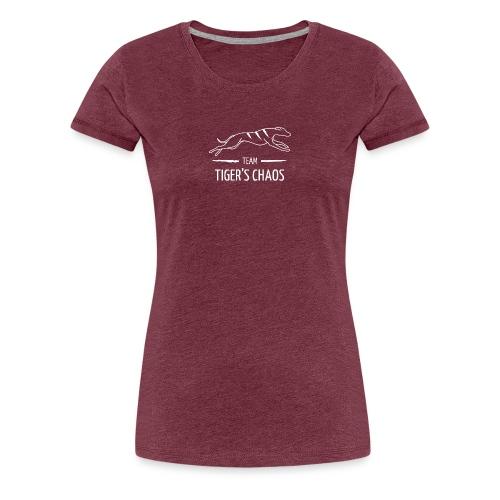 Naisten t-paita - viininpunainen - Naisten premium t-paita