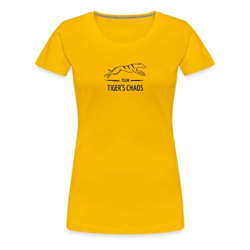 Naisten t-paita - keltainen - Naisten premium t-paita