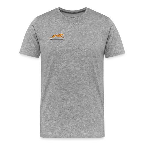 Miesten t-paita - harmaa värikuvalla - Miesten premium t-paita