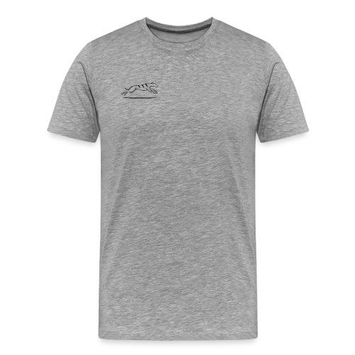 Miesten t-paita - harmaa  - Miesten premium t-paita