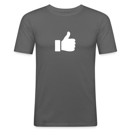 Daumen hoch - Herren Grau - Männer Slim Fit T-Shirt