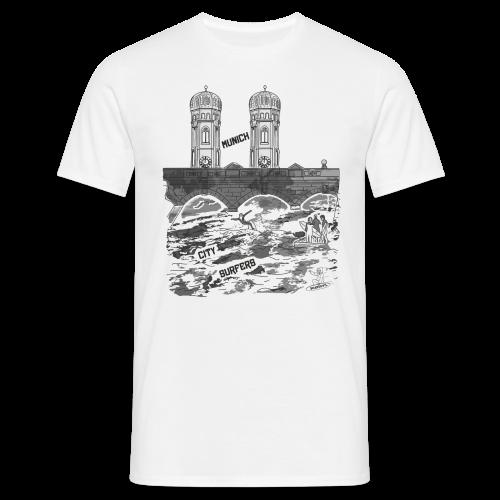 BOARDEVIL Munich City Surfers - Männer T-Shirt