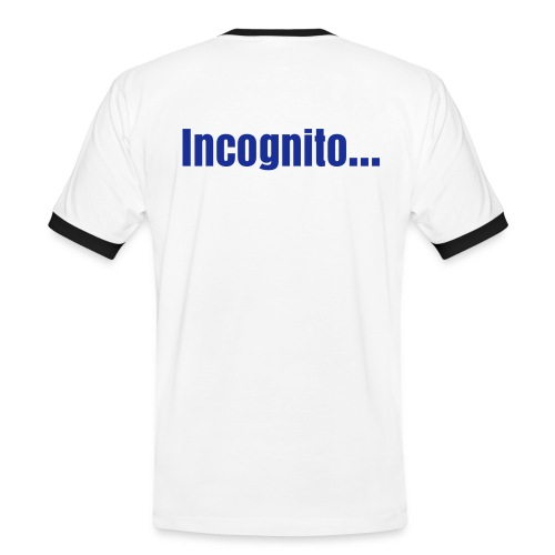 incognito - Kontrast-T-skjorte for menn