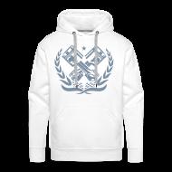 Sweaters ~ Mannen Premium hoodie ~ race piston zilver