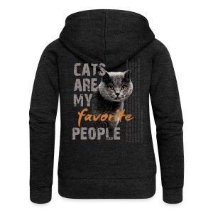 cats are my favorite people - Frauen Premium Kapuzenjacke