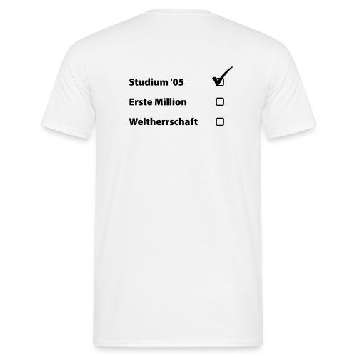 Abi Shirt Weltherrschaft - Männer T-Shirt