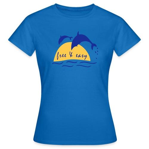 T-Shirt mit Delfin - Frauen T-Shirt