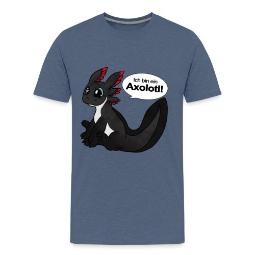 Ich bin ein Axolotl! Melanoid Version Männershirt - Männer Premium T-Shirt