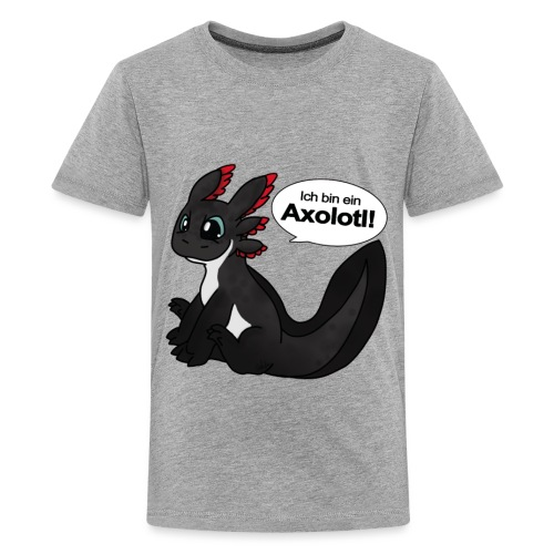 Ich bin ein Axolotl! Melanoid Version Teenieshirt - Teenager Premium T-Shirt