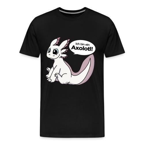 Ich bin ein Axolotl! Weißling Version Männershirt - Männer Premium T-Shirt