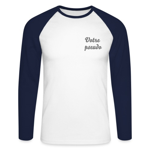 Tee-shirt manches longues homme - T-shirt baseball manches longues Homme