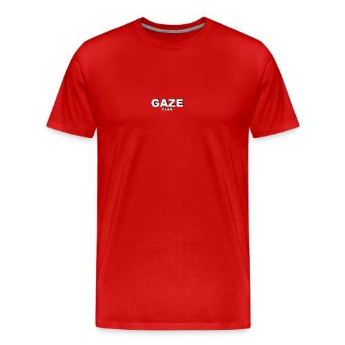 White GAZE Basic tee - Men's Premium T-Shirt