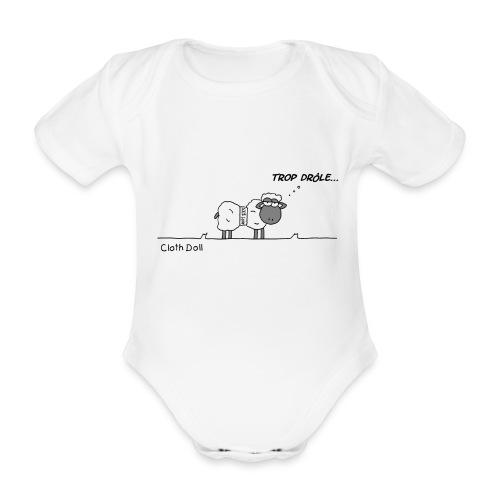 mouton 100% laine baby - Body bébé bio manches courtes