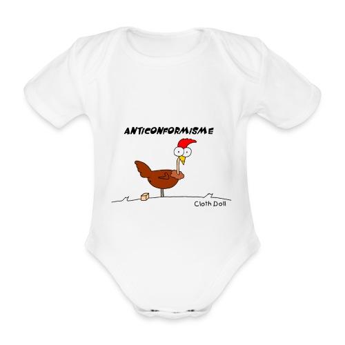 poule anticonformiste baby - Body bébé bio manches courtes
