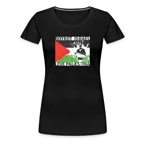 Boykot Israel - leve Palæstina - Dame premium T-shirt