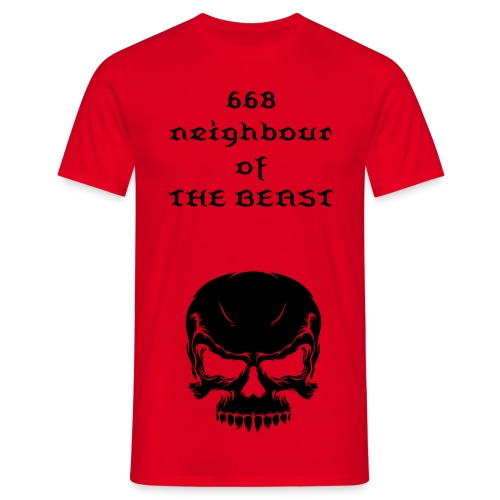 668 neighbour of the beast - Men's T-Shirt