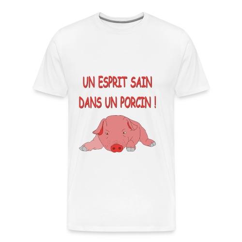 Porcitive  Attitude - T-shirt Premium Homme