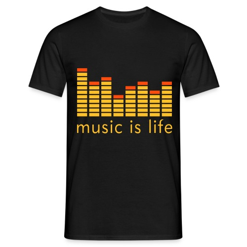 T-shirt NoReality Music is life - T-shirt Homme