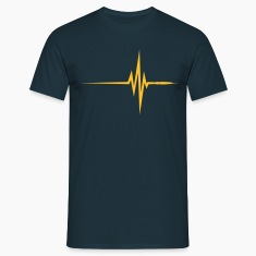 Navy Pulse Beat EKG (1c, NEU) Men's T-Shirts